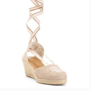 Paseart Spain Beautiful Lace Up Suede Espadrilles